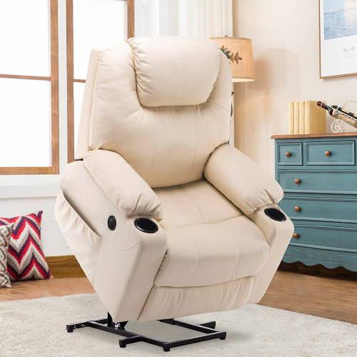 """Nicht im Fernsehsessel Test: Sessel mit Aufstehhilfe (Hier: Ein """"MCombo"""" in creme)"""