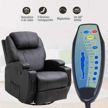 Massagefunktion, Heizfunktion und mehr