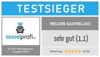 Sesselprofi.de-Siegel Massagesessel Test: Testnote 1,1 (sehr gut)