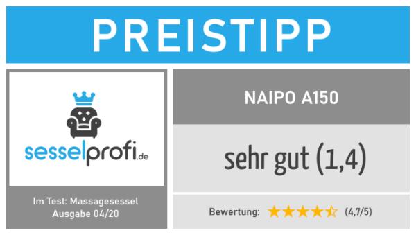 Preistipp im Massagesessel Test: Naipo A150 (Note: 1,4 - sehr gut)