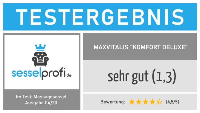 "Bestseller im Massagesessel Test: maxVitalis ""Komfort Deluxe"" (Note: 1,3 - sehr gut)"